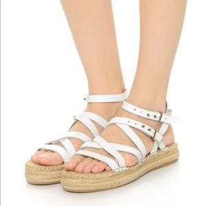 Splendid Erin white strappy espadrille sandals 8